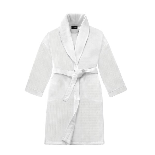 Kafka Honeycomb Shawl 100% Cotton Bathrobe by The